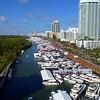 Busy sunday Miami Beach boat show 2018 4k