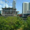 Aerial drone video Hyde Beach House Hallandale construction site 60p