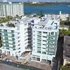 New condominium construction site inspection development drone aerial