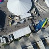 Aerial flyover crowds at the Miami International boat show 2018 Key biscayne