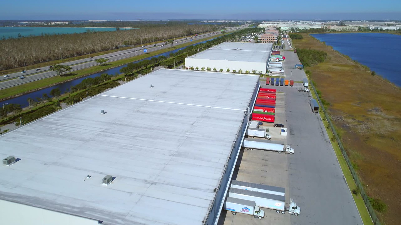Aerial video distribution warehouses Doral Florida
