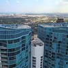 Aerial rooftop flyover River House Fort Lauderdale Florida 4k 60p