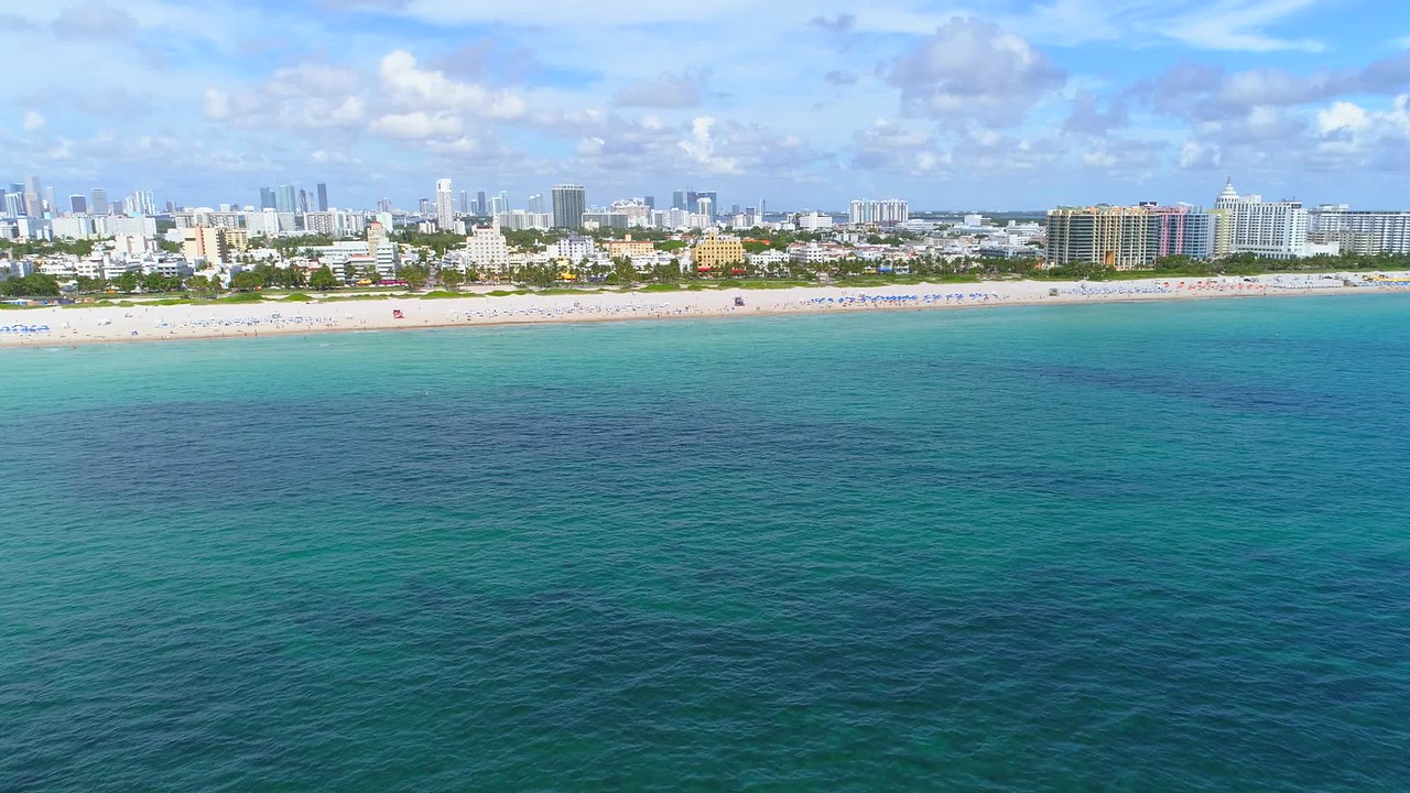 Establishing shot of Miami Beach