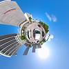 Aerial video tiny planet Miami 4k