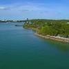 Aerial video Oleta Park recreation and beach area picnic 4k