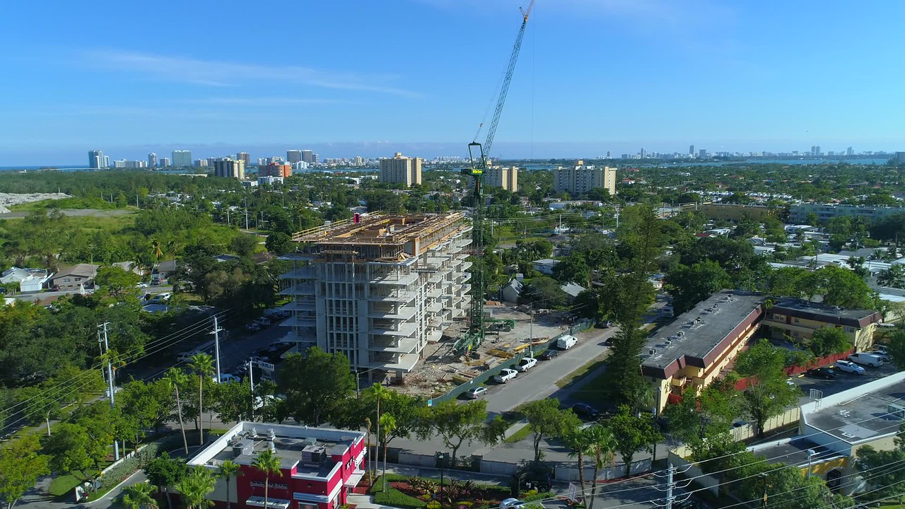 The Highlands North Miami Beach aerial construction video