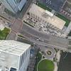 Aerial drone footage Brickell Avenue Miami FL