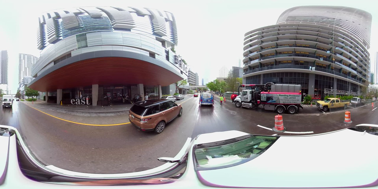 360 vr footage 8th Street Brickell City Centre driving plates virtual reality