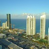 Aerial tour of Sunny Isles Beach Florida USA