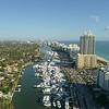 Aerial tilt down reveal Miami boat show 2018 4k 60p