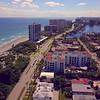 Aerial video Boca Raton Florida beach access
