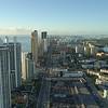 Aerial hyperlapse footage Sunny Isles Beach Florida flyby tour