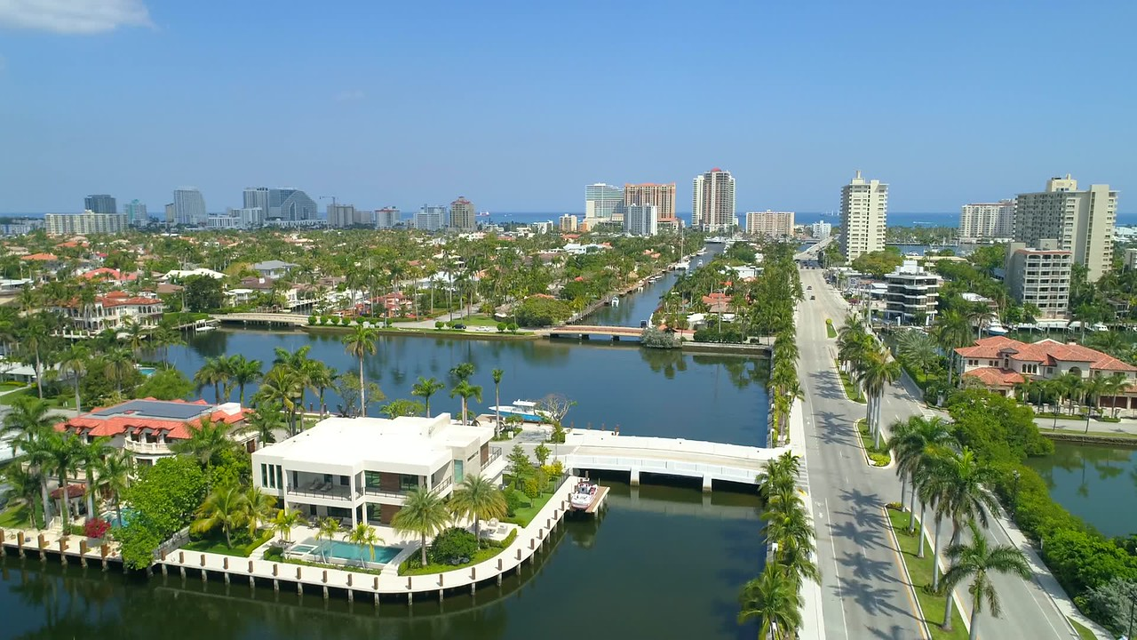 Luxury waterfront mansions Fort Lauderdale Florida USA