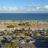 Aerial shot Fort Lauderdale Beach FL dusk