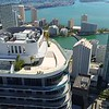 Aerial drone video SLS Brickell rooftop flyover reveal Downtown Miami 4k