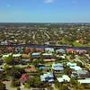 Aerial video residential neighborhood Boca Raton Florida 4k