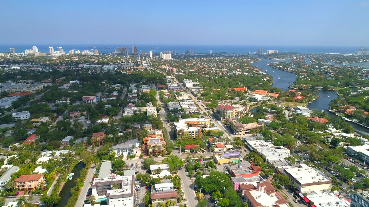 Aircraft pov Fort Lauderdale Florida 4k 60p