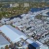 Flying over the Fort Lauderdale International Boat Show 4k 60p