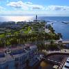 Aerial tour Hillsboro Florida waterfront 4k 60p
