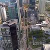 Aerial drone footage Brickell city center