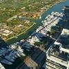 Birdseye view of the Miami Beach boat show static video