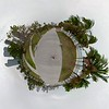 Tiny planet fisheye view motion footage Museum Park Downtown MIami