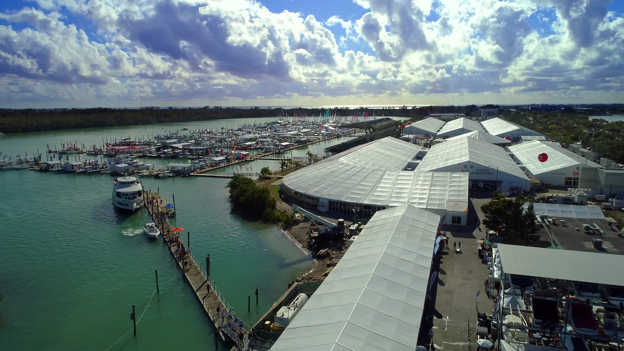 Aerial video Key Biscayne boat show 2018