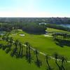 Aerial video Deering Bay Golf course landscape 4k