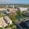Aeial landscape FIU College Campus Miami university 4k