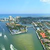 Aerial Fort Lauderdale manmade islands luxury mansions