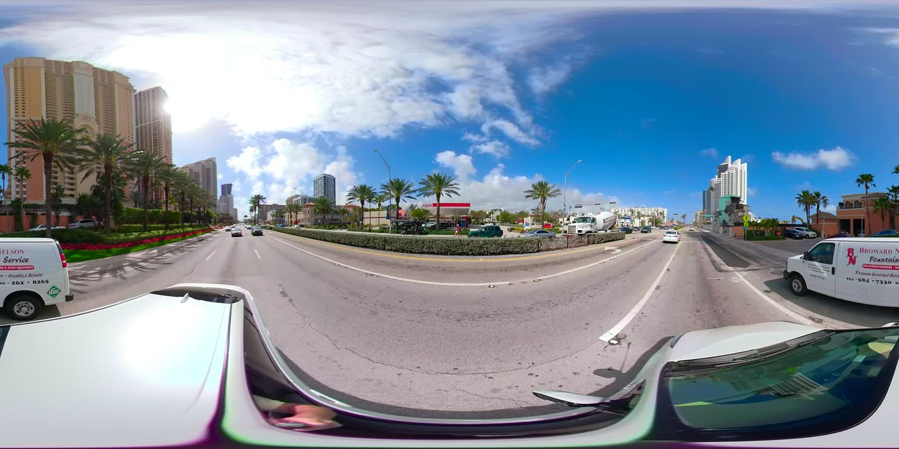 360 vr virtual reality motion footage driving plates video tour sunny Isles Beach Florida