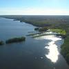 Aerial Nature landscape Deering Estate Miami Florida
