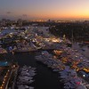 Amazing twilight aerial Fort Lauderdale Boat Show 2017