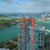Aerial establishing video Miami 4k