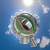 Tiny planet Venetian Causeway Miami motion video stabilize