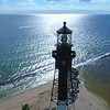 Drone orbit around a lighthouse 4k 60p