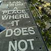 Art walls at Wynwood Miami graffiti urban neighborhood 4k 24p