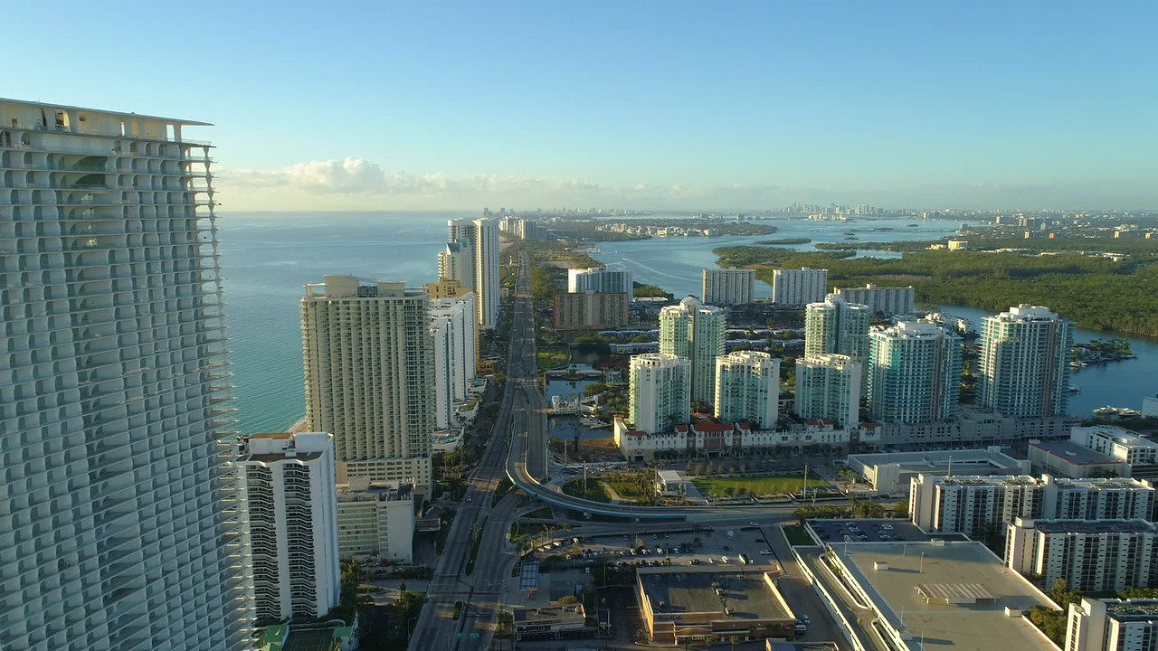 Drone video Sunny Isles Florida USA