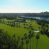 Aerial video of a beautiful golf course landscaped 4k