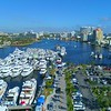 Aerial Fort Lauderdale boat show shot with a drone 4k 60p