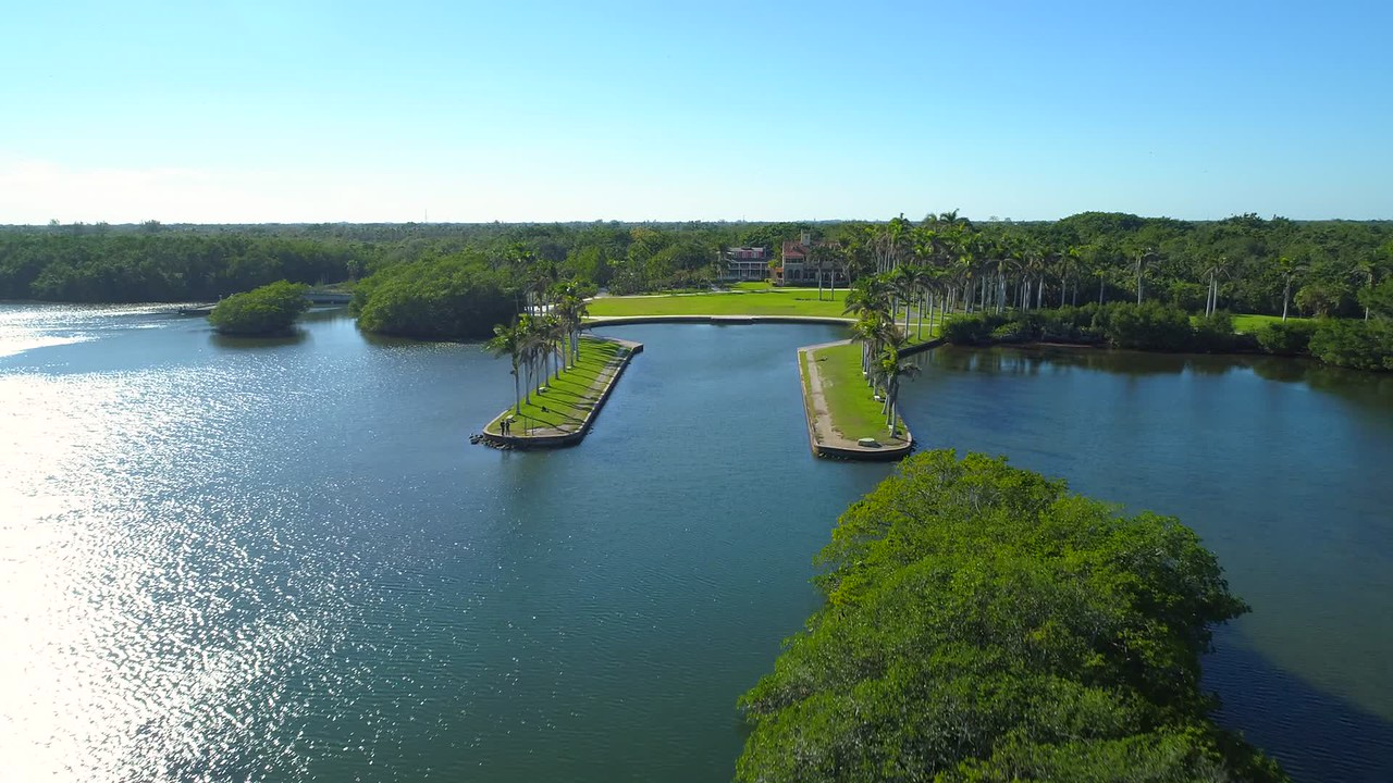 Drone aerial video Deering Estate Miami FL 4k 24p