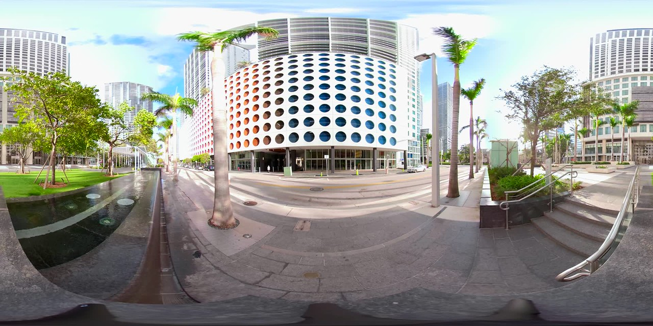 360vr still footage Brickell Miami FL highrise condos and office buildings