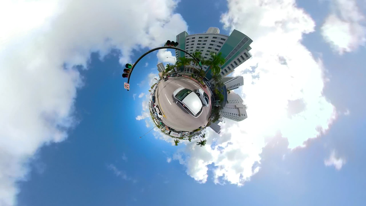 Driving on a tiny planet Miami Beach FL