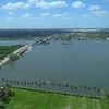 Aerial video Intracoastal Waterway Lake Worth Lagoon