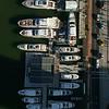 Aerial tilt up reveal Miami boat show 2018 4k 60p