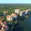 Aerial Miami bayfront condominiums deering bay south miami 4k