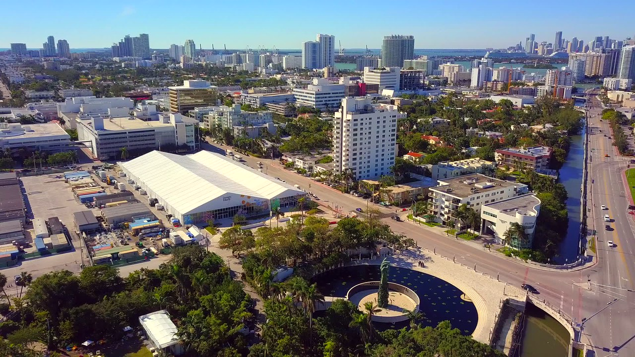 Drone footage Miami Beach art basel 2017 4k