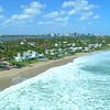 Aerial tour Palm Beach Florida luxury beachfront real estate mansions wealthy homes