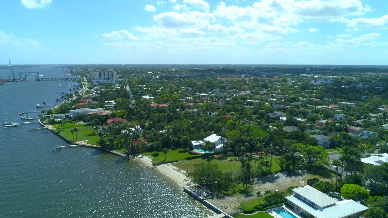 Aerial drone mansions west palm beach florida