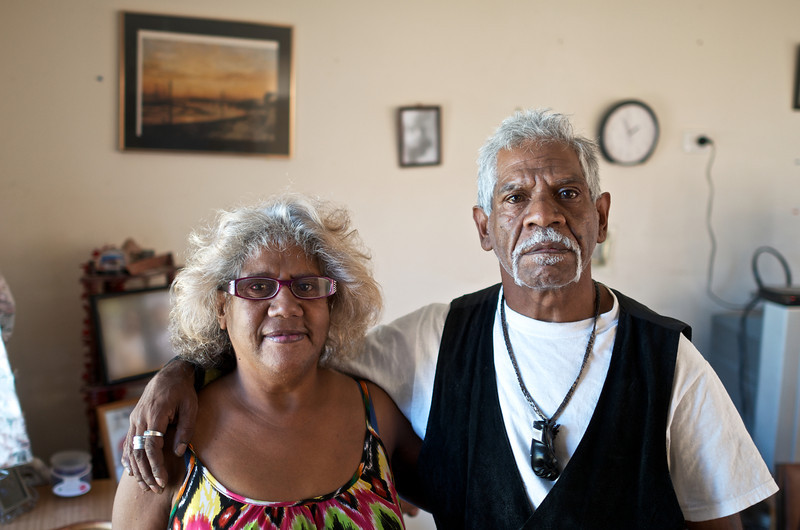 Mid-Adult Aboriginal Man and Woman indoors